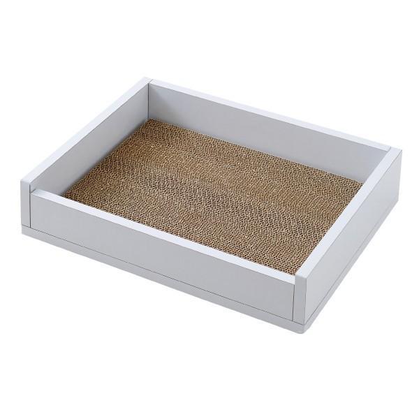猫 ねこ ベッド つめとぎ ホワイトファニチャー スクラッチベッド|ip-plus