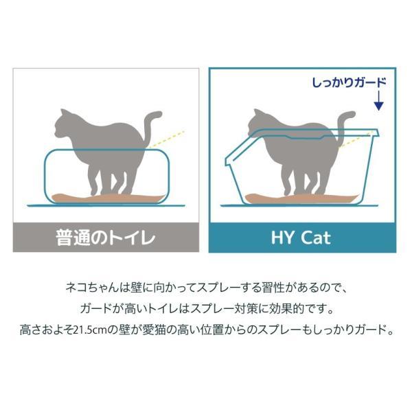 猫トイレ キャットトイレ スプレー対策 飛び散り 飛散ガード HY cat ラージ グレー|ip-plus|03