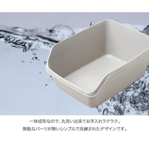 猫トイレ キャットトイレ スプレー対策 飛び散り 飛散ガード HY cat ラージ グレー|ip-plus|05