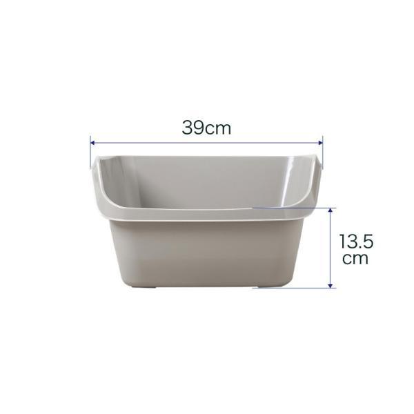 猫トイレ キャットトイレ スプレー対策 飛び散り 飛散ガード HY cat ラージ グレー|ip-plus|07