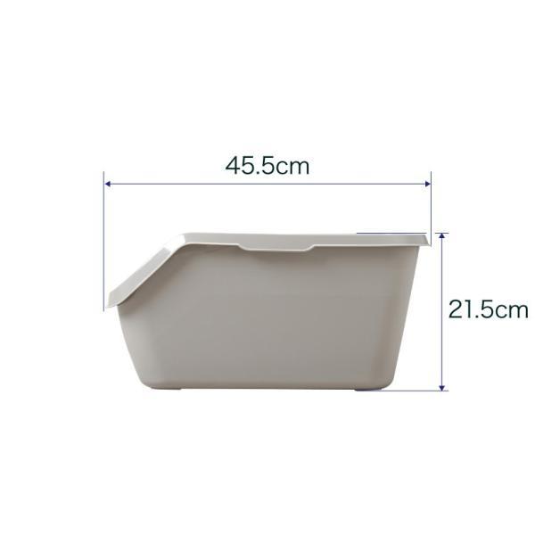 猫トイレ キャットトイレ スプレー対策 飛び散り 飛散ガード HY cat ラージ グレー|ip-plus|08