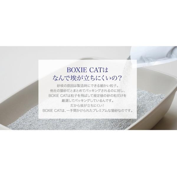 ねこ 砂 トイレ 鉱物系 固まる 猫砂 強力消臭 BOXIECAT グリーン 7.2kg×3袋セット 微香量 獣医師共同開発 ボクシーキャット|ip-plus|05