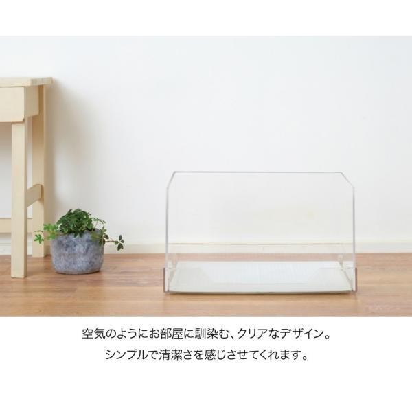 クリアレット2(S) (レギュラーシーツサイズ) [犬 トイレ おしゃれ 透明 ドッグ アクリル デザイナーズ]|ip-plus|02