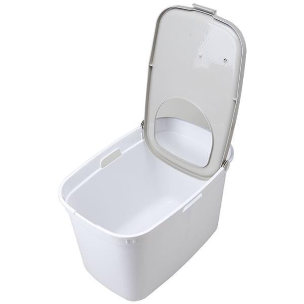 上から入る猫トイレ 散らからない TOP CAT 掃除 フルカバー ネコトイレ 猫 ねこ ボックス BOX TOPCAT【トップキャット】2色|ip-plus|10