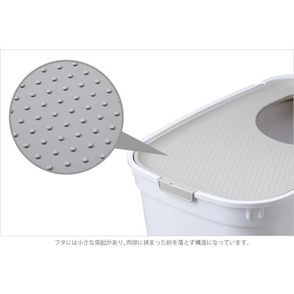 上から入る猫トイレ 散らからない TOP CAT 掃除 フルカバー ネコトイレ 猫 ねこ ボックス BOX TOPCAT【トップキャット】2色|ip-plus|05