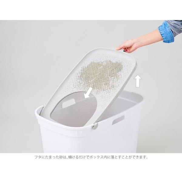 上から入る猫トイレ 散らからない TOP CAT 掃除 フルカバー ネコトイレ 猫 ねこ ボックス BOX TOPCAT【トップキャット】2色|ip-plus|06