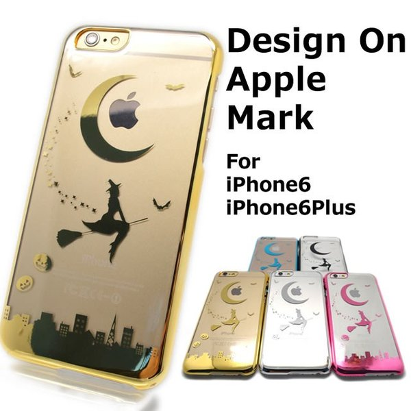 1afec2b4db iPhone 6 6S アイフォン 6SPlus 6Plus 用 ケース カバー Appleマーク デザイン クリア 魔女の宅急便 ...