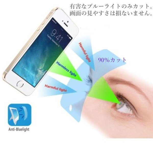 ブルーライトカット 90% 液晶保護フィルム 強化ガラス iPhoneXS X MAX XR iPhone8 8Plus iPhone7 iPhone7Plus iPhoneSE iPhone6s iphone-smart 02