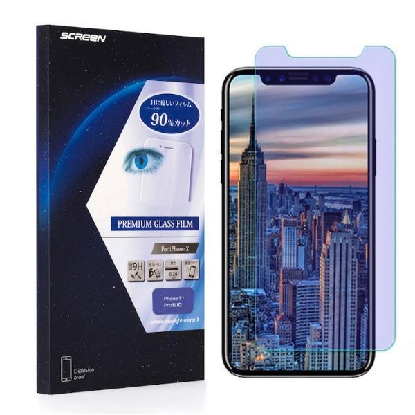 ブルーライトカット 90% 液晶保護フィルム 強化ガラス iPhoneXS X MAX XR iPhone8 8Plus iPhone7 iPhone7Plus iPhoneSE iPhone6s iphone-smart 12