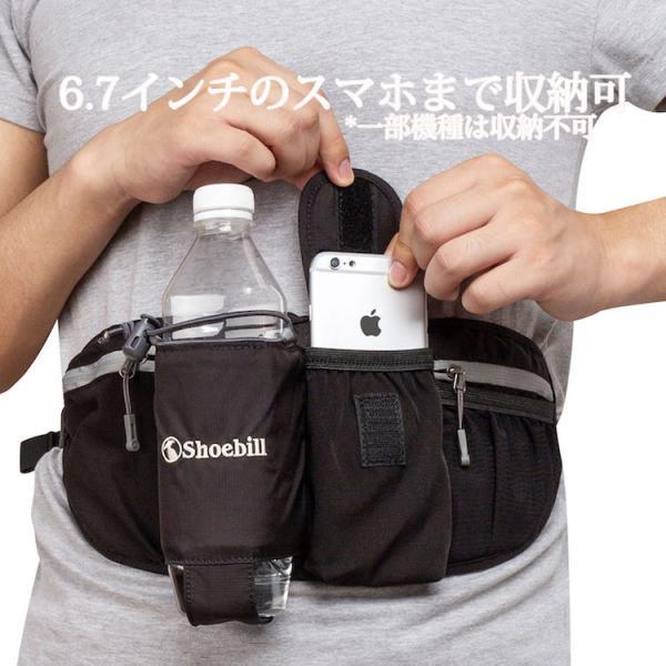 ウエストポーチ ペットボトル  メンズ レディース 防水 ウエストバッグ ポーチ スマホ収納 iphone アウトドア ランニング 軽量 3L|iphone-smart|02