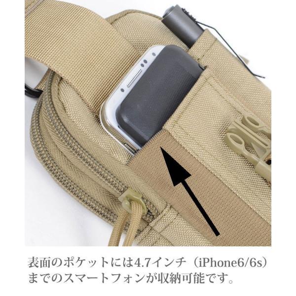 スマホポーチ メンズ 大きめ ウェストバッグ ベルトケース ヒップバッグ スマホホルスター  iPhoneXS Max可 iphone-smart 09