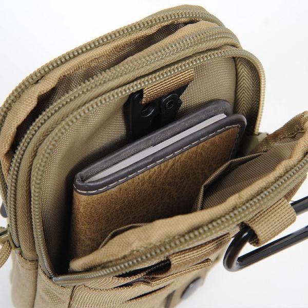 スマホポーチ メンズ 大きめ ウェストバッグ ベルトケース ヒップバッグ スマホホルスター  iPhoneXS Max可 iphone-smart 10