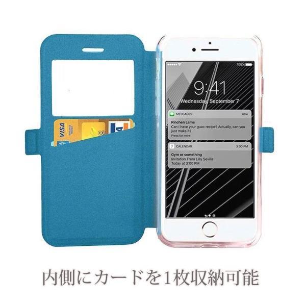 窓付き iPhone6s ケース iPhone6s Plus iPhone7 7Plus 8 Plus ケース 手帳型 カバー マグネット式 カード収納 おしゃれ|iphone-smart|02