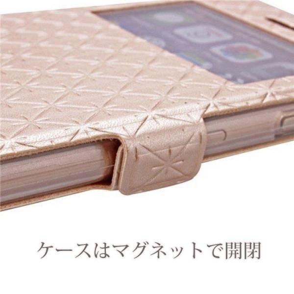 窓付き iPhone6s ケース iPhone6s Plus iPhone7 7Plus 8 Plus ケース 手帳型 カバー マグネット式 カード収納 おしゃれ|iphone-smart|03