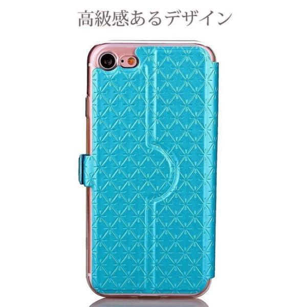 窓付き iPhone6s ケース iPhone6s Plus iPhone7 7Plus 8 Plus ケース 手帳型 カバー マグネット式 カード収納 おしゃれ|iphone-smart|04