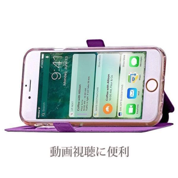 窓付き iPhone6s ケース iPhone6s Plus iPhone7 7Plus 8 Plus ケース 手帳型 カバー マグネット式 カード収納 おしゃれ|iphone-smart|06