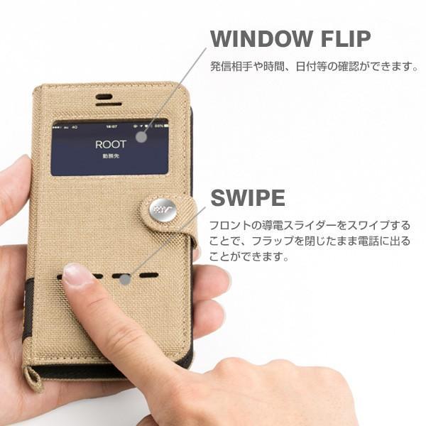 iPhone6s iPhone6 窓付 手帳型 ケース Phone6s フリップ ケース アイフォン6s 手帳型ケース ブランド ROOT CO|iplus|05