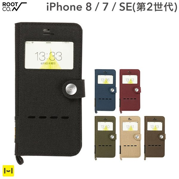 iPhone7 アイフォン7 アイホン7 ROOT CO. Gravity Shock Resist Diary Case. / Window Flip ケース カバー 耐衝撃