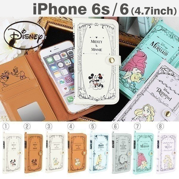 iPhone6s ケース iPhone6s カバー ディズニーキャラクター/Book Style Case