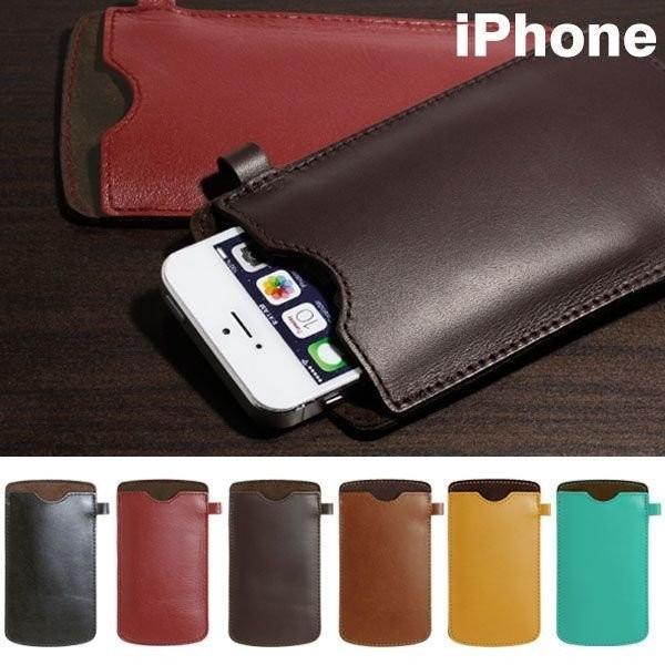 ハンドメイドソフトレザースリーブ 本革 ケース iPhone6 iPhone5s iphone5 アイフォン ケース カバー スマホ カバー・グッズiPlus