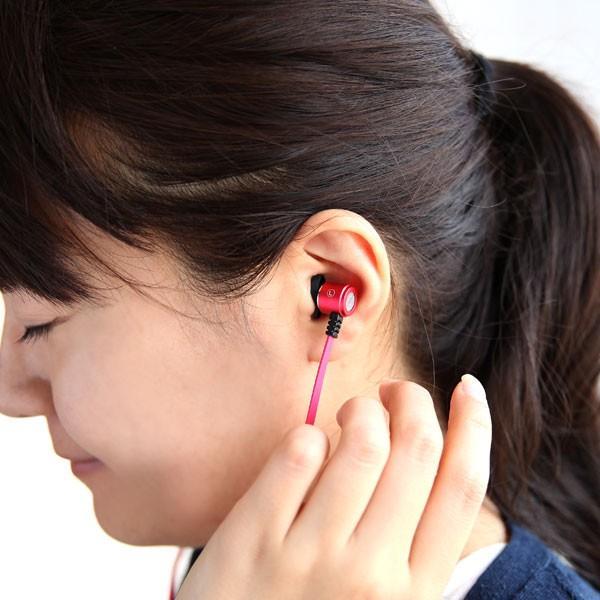 イヤホン イヤフォン Flat Cable Alumi Earphone フラットケーブル アルミスマホ スマートフォン iPhone Android カナル型|iplus|06