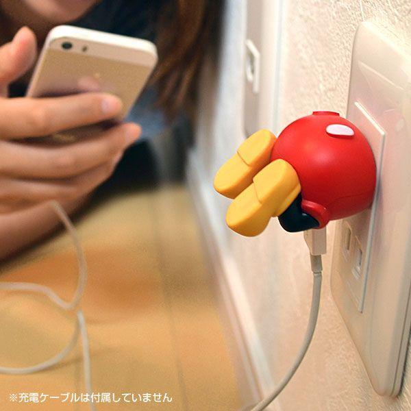 ディズニー キャラクター USB ACアダプター 充電器 おしりシリーズ disney_y スマホ充電器コンセント モバイル スマートフォン コンセント ミッキー|iplus|06
