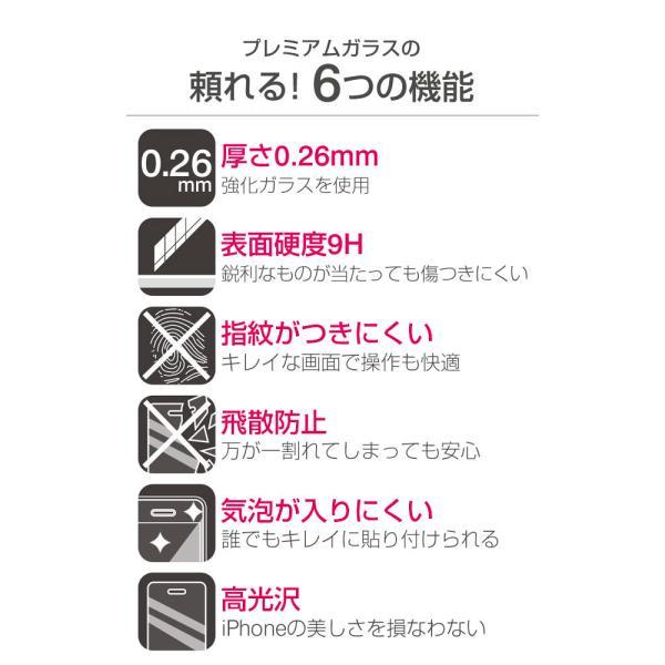 iPhoneXS iPhoneX ガラスフィルム アイフォンx フィルム ガラス アイホンx プレミアムガラス9H PETフレーム 強化ガラス 液晶保護シート 0.26mm|iplus|04