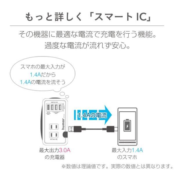 充電器 バッテリー おしゃれ 電源タップ 持ち運び 充電器 コンパクト 収納 旅行 出張 AC USB マルチタップ 複数充電 同時充電 humor|iplus|09