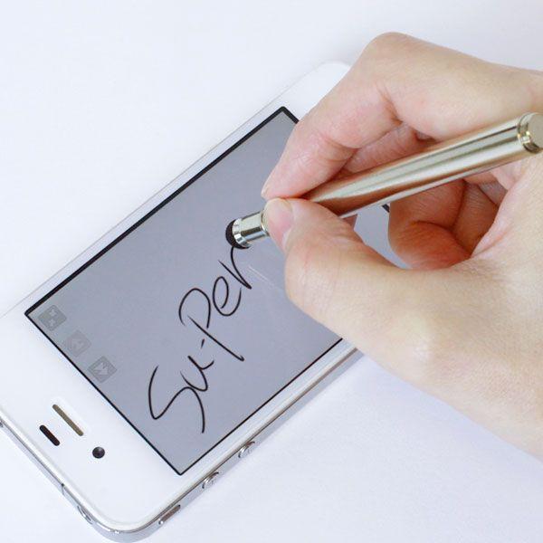 スーペン Su-Pen mini スタイラスペン キャップ付き メッキバージョン スマホ タッチペン iPhone6s plus iPhone iPad iPod touch 対応|iplus|03