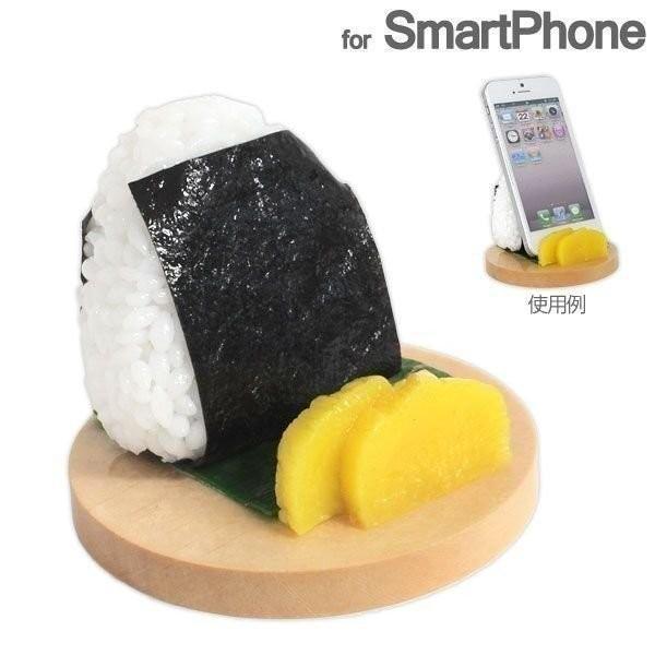食品サンプル スタンド おにぎり のり スマホ スマートフォン グッズ iphoneスタンド|iplus