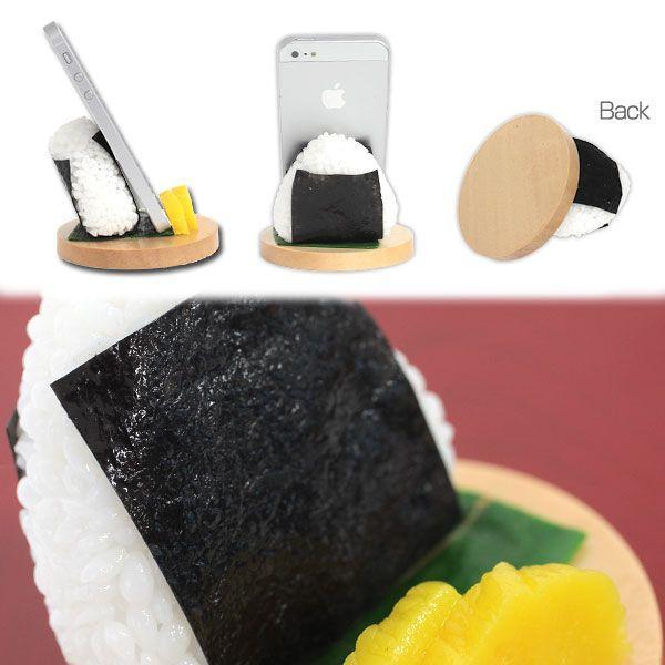 食品サンプル スタンド おにぎり のり スマホ スマートフォン グッズ iphoneスタンド|iplus|02