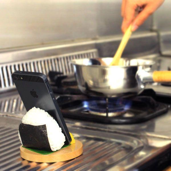 食品サンプル スタンド おにぎり のり スマホ スマートフォン グッズ iphoneスタンド|iplus|03