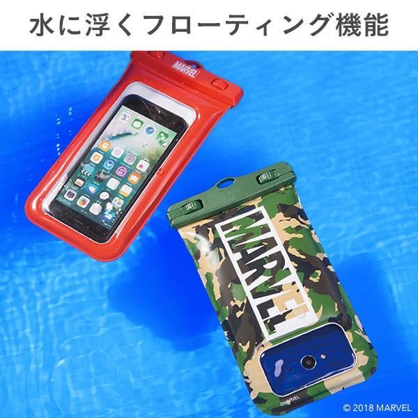 スマホ 防水ケース 浮く 防水 ケース マーベル MARVEL 完全防水 iphone iphone7 DIVAID 海 フローティング メンズ 携帯防水ケース キャラクター|iplus|06