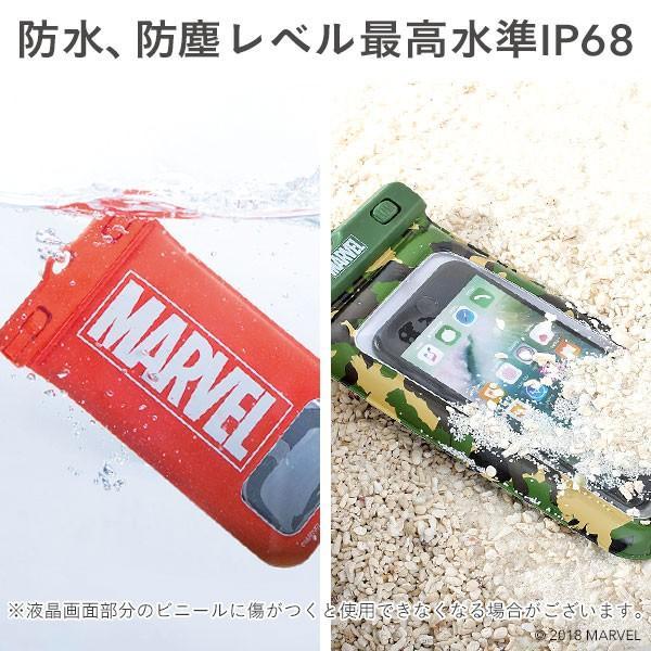 スマホ 防水ケース 浮く 防水 ケース マーベル MARVEL 完全防水 iphone iphone7 DIVAID 海 フローティング メンズ 携帯防水ケース キャラクター|iplus|07