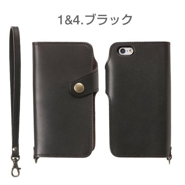 iPhone8 アイフォン8 ケース 栃木レザー iPhone7 アイフォン7 ケース 手帳 横型 レザー 本革 カバー ストラップ付き アイフォンケース iPhone6s|iplus|02