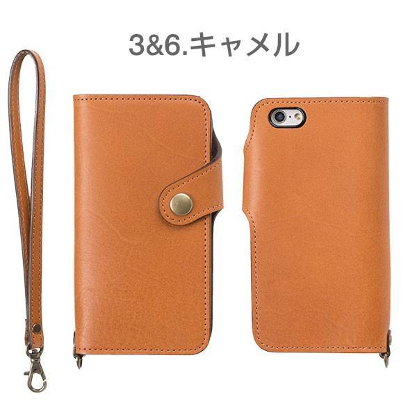iPhone8 アイフォン8 ケース 栃木レザー iPhone7 アイフォン7 ケース 手帳 横型 レザー 本革 カバー ストラップ付き アイフォンケース iPhone6s|iplus|04