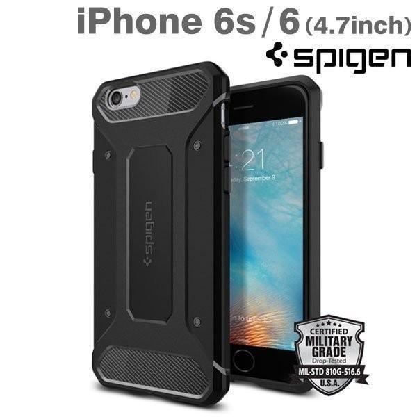 iPhone6 ケース Spigen iPhoneケース Capsule Ultra Rugged (ブラック)