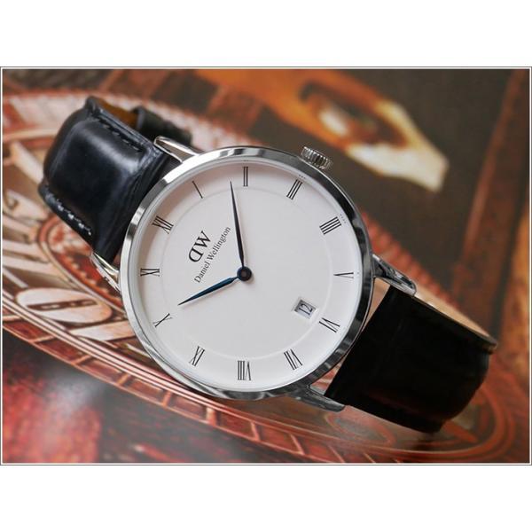 ダニエル ウェリントン DANIEL WELLINGTON 腕時計 DW00100117 シルバー 34mm DAPPER READING ダッパー リーディング