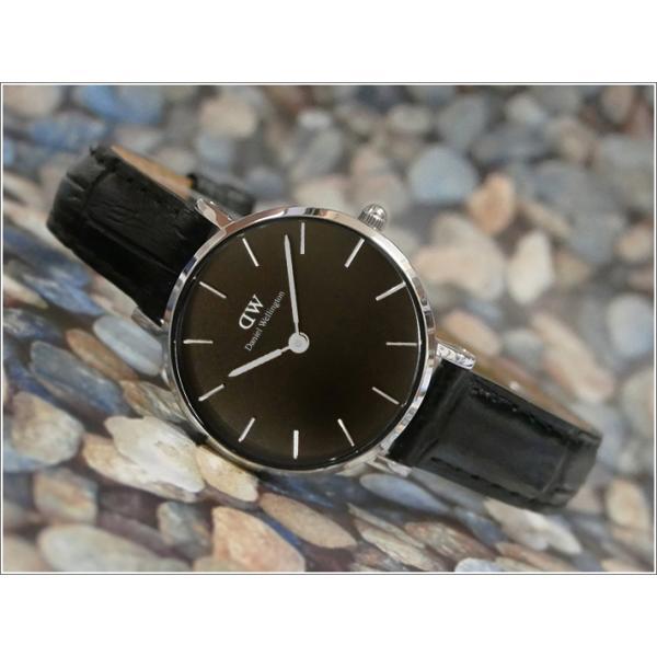 ダニエル ウェリントン DANIEL WELLINGTON 腕時計 DW00100235 DW00600235 シルバー 28mm PETITE READING ペティット レディング ブラック|ippin