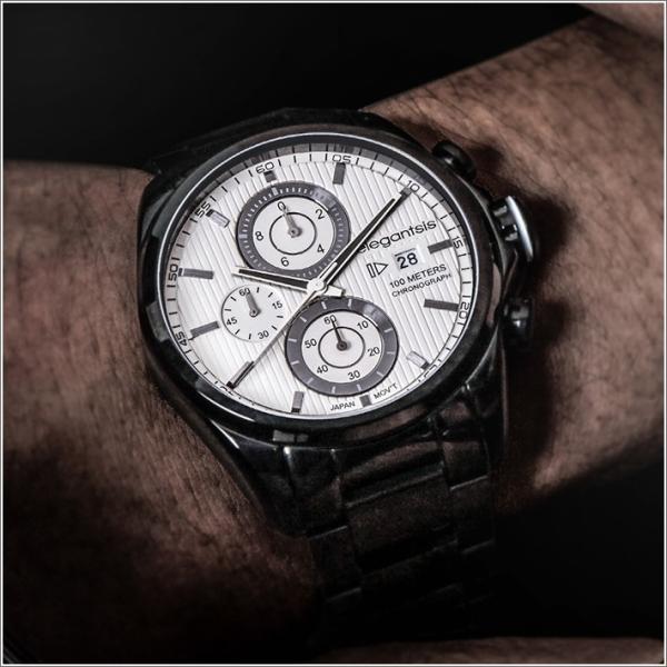 エレガントシス elegantsis 腕時計 ELJT42R-6W06MA レーシングスタイル スーパーバイクモデル|ippin|03
