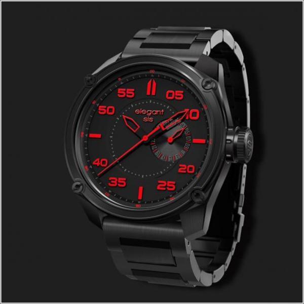 エレガントシス elegantsis 腕時計 ELJT47-PR03MA ミリタリースタイル ファイヤーアームモデル|ippin