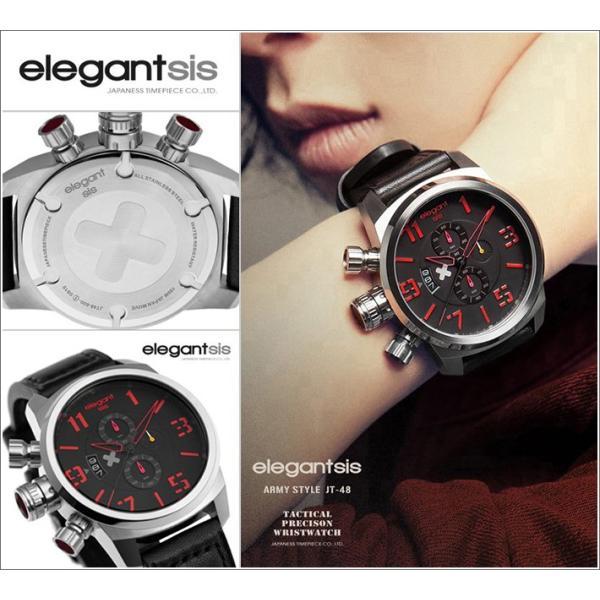 エレガントシス elegantsis 腕時計 ELJT48-OG10LC ミリタリースタイル 従軍看護師モデル|ippin|03