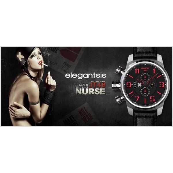 エレガントシス elegantsis 腕時計 ELJT48-OG10LC ミリタリースタイル 従軍看護師モデル|ippin|05