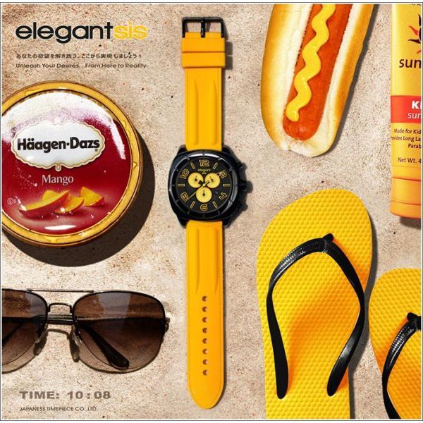 エレガントシス elegantsis 腕時計 ELJT66-FY04LC スポーツスタイル サーファーモデル|ippin|03