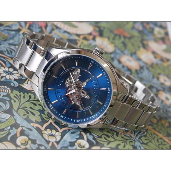 ハンティングワールドHUNTINGWORLD腕時計HW502SBLメタルベルト機械式自動巻