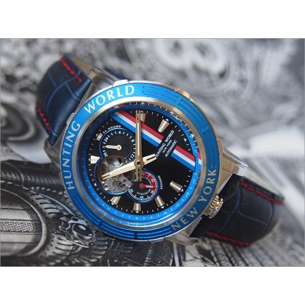 ハンティングワールド HUNTING WORLD 腕時計 アディショナルタイム HW993BL レザーベルト|ippin