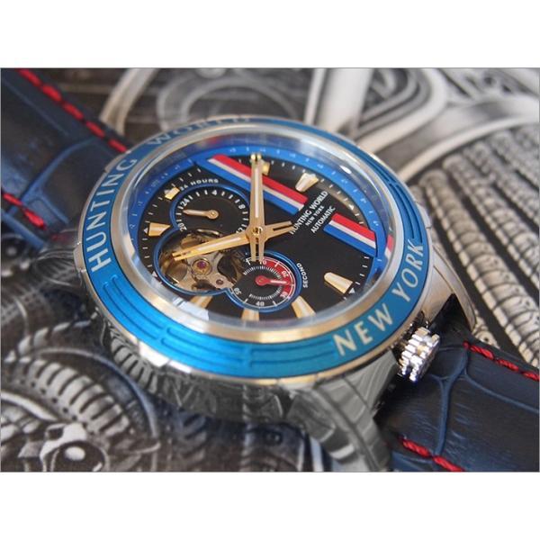 ハンティングワールド HUNTING WORLD 腕時計 アディショナルタイム HW993BL レザーベルト|ippin|02