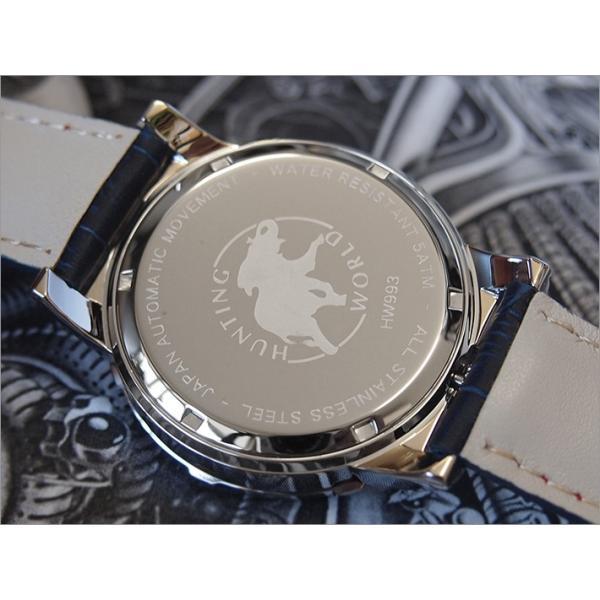 ハンティングワールド HUNTING WORLD 腕時計 アディショナルタイム HW993BL レザーベルト|ippin|03