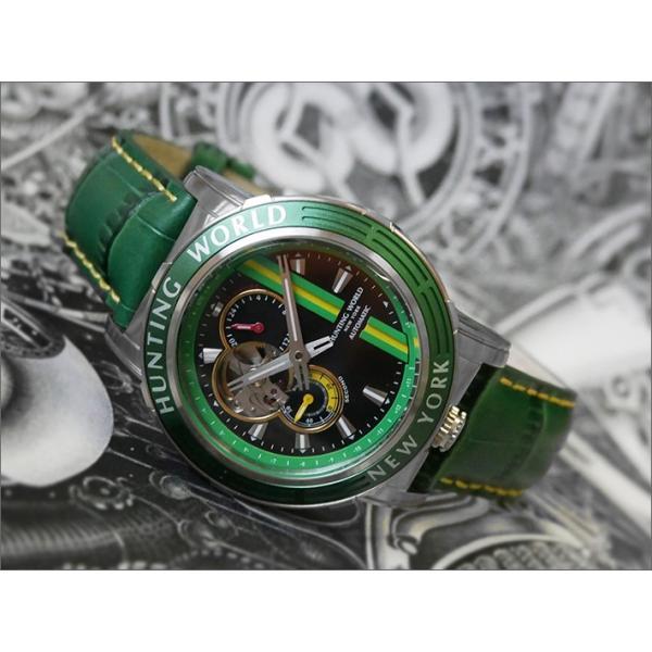 ハンティングワールドHUNTINGWORLD腕時計HW993GRレザーベルト機械式自動巻