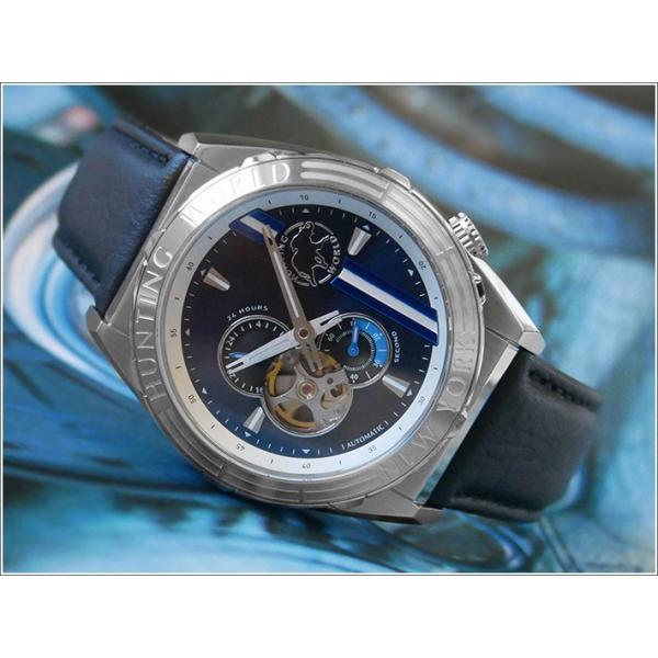 ハンティングワールドHUNTINGWORLD腕時計HW994SBLレザーベルト機械式自動巻
